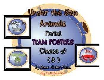 Ocean Animal Team Posters