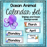 Ocean Animal Theme Editable Calendar Set