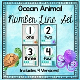 Ocean Animal Theme Number Line Posters 1-20
