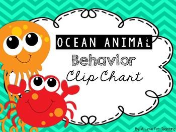 Ocean Animal Themed Behavior Chart