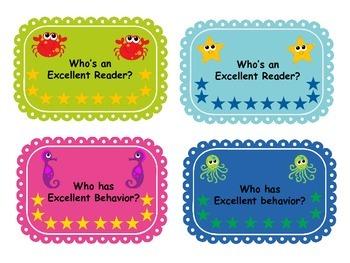 Ocean Animal Themed Classroom Pack 1 {Editable}