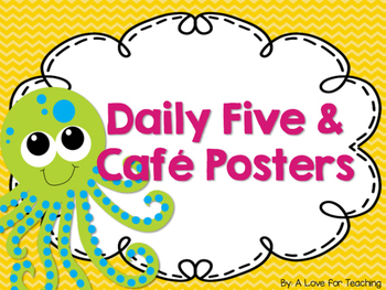 Ocean Animal Themed Daily Five and Cafe Posters