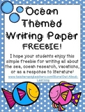 Ocean Animal Themed Writing Paper FREEBIE