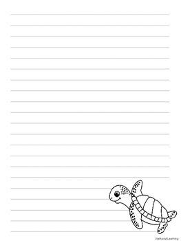 Ocean Animal Themed Writing Paper FREEBIE