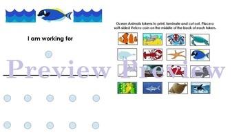 Ocean Animal Token Board- Autism, ABA, Special Ed.