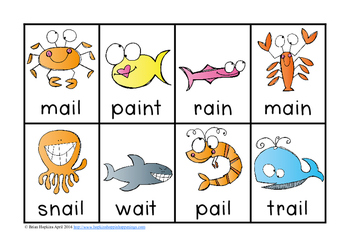 Ocean Animal Vowel Pairs