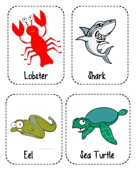 Ocean Animal Word Wall