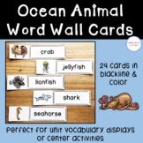 Ocean Animal Word Wall Cards