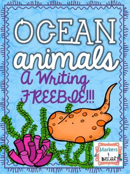 Ocean Animal Writing FREEBIE