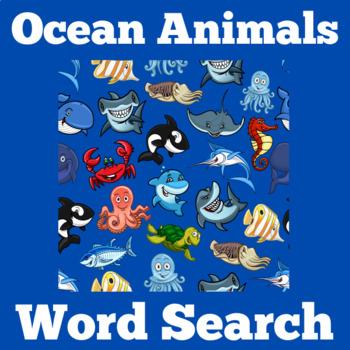 Ocean Animals Activity   Ocean Animals Word Search   Ocean Animals Unit
