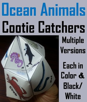 Sea Animals Activity/ Foldable
