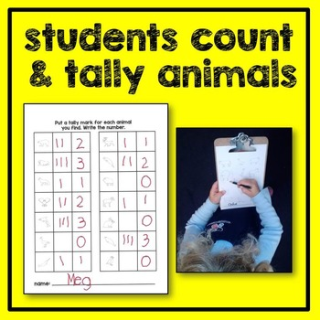 Ocean Animal Count the Room Math Center