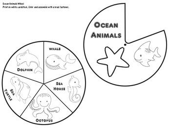 Ocean Animals Activity   Ocean Animals Worksheets   Ocean Animals Unit