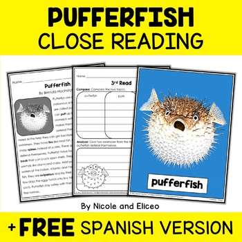 Close Reading Passages - Ocean Animal Activities