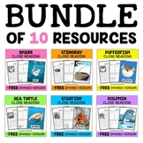 Ocean Animal Close Reading Passages Bundle