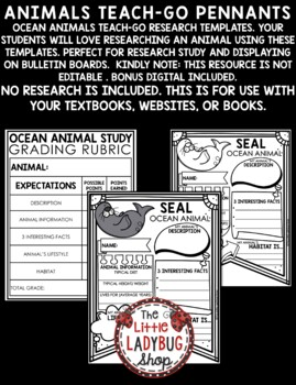 Animals of The Ocean Research Project & Rubric • Teach- Go Pennants™