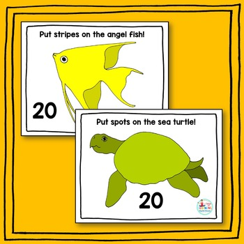 Ocean Animal Play-Doh Counting Mats