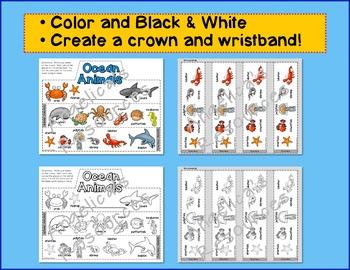Ocean Animals Craft Activities : Crowns and Wristbands - Ocean Craft
