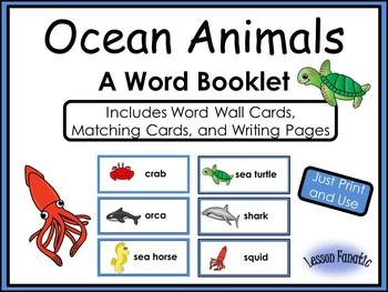Ocean Animals: A Word Booklet