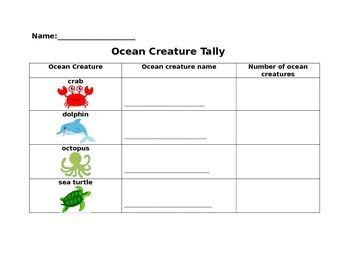 Ocean Animals Activity