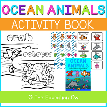 Ocean Animals Activity Book
