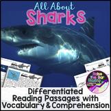 Ocean Animals Reading: Differentiated Sharks Reading Passa