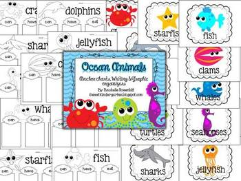 Ocean Animals: Anchor Charts & Graphic Organizers
