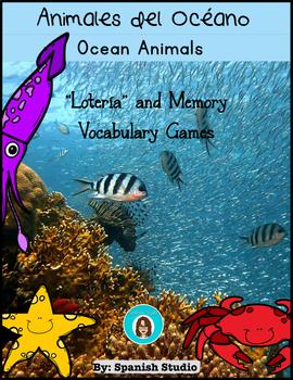 Ocean Animals Vocabulary Activities (Spanish)