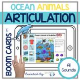 Ocean Animals Articulation Boom Cards™️ All Sounds   Speec