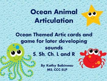 Ocean Animals Articulation:  S, R, L, Sh, Ch,