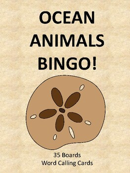 Ocean Animals BINGO!