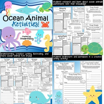 Ocean Animal BUNDLE!  -Writing, Taskcards, and More!- Common Core