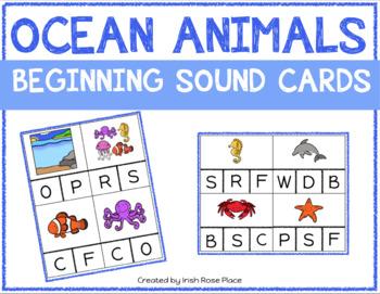 Ocean Animals Beginning Sound Cards