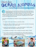 Ocean Animals Beyond the Book Activity Pages -By Unicorn J