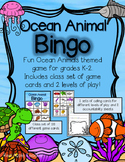 Ocean Animals Bingo Game for Your K-2 Class