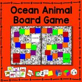 Ocean Animal Board Game Math Center