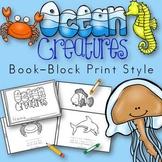Ocean Animals Book for Kindergarten and 1st Grade {Block P