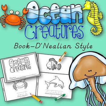 Ocean Animals Book for Kindergarten and 1st Grade {D'Neali