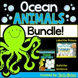 Ocean Animals Bundle! (Label the Picture, Build the Sentence)