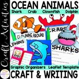 Ocean Animals bundle(Shark, Crab, Dolphin and Clown Fish Crafts!)