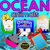 Ocean Animals bundle(Shark, Crab, Dolphin and Clown Fish Crafts!)