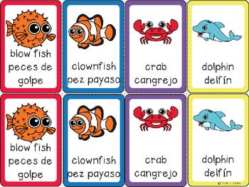 Ocean Animals Card Games