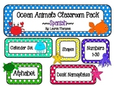 Ocean Animals Classroom Decor Pack - SPANISH