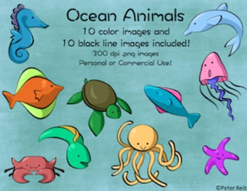 Ocean Animals Clip Art