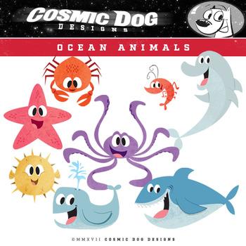Ocean Animals Clip Art Set