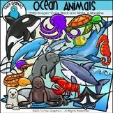 Ocean Animals Clip Art Set - Chirp Graphics