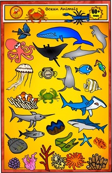 Ocean Clip Art and Sea life from Charlotte's Clips