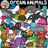 Ocean Animals Clipart Bundle {Ocean Clipart}