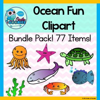Ocean Animals Clipart - Bundle Pack