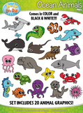 Ocean Animals Clipart {Zip-A-Dee-Doo-Dah Designs}
